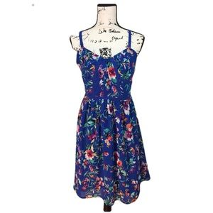 Nicole by Nicole Miller Blue Flower Dress - size 4